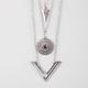 FULL TILT 3 Row Arrow/Disc/V Bar Necklace