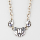 FULL TILT Chain/Stone Bib Statement Necklace