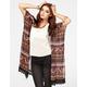 FULL TILT Crochet Trim Womens Kimono