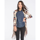 FULL TILT Mixed Yarn Womens Fringe Wrap Sweater