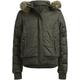 FULL TILT Faux Fur Hood Girls Puffer Jacket