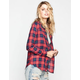 ALI & KRIS Two Tone Plaid Womens Boyfriend Shirt