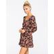 SOCIALITE Lattice Back Womens Babydoll Dress