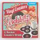 SPINNING HAT Rockabilly Vinyl Coaster Set