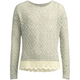 FULL TILT Marled Crochet Trim Girls Sweater