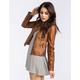 JOU JOU Gar Dye Womens Faux Leather Jacket
