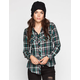 ANGIE Womens Boyfriend Flannel Shirt