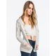 FULL TILT Essential Womens Cozy Stripe Zip Front Hoodie