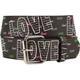 Love Screen Print Belt
