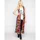 LIVE 4 TRUTH Floral Print Womens Long Kimono Vest