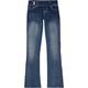 SCISSOR Extended Tab Girls Flare Jeans