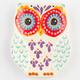 Folk Owl Small Trinket Dish