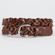 Mid-Width Braided Faux Leather Belt