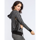 FULL TILT Marled Crochet Side Womens Hoodie