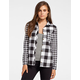 POLLY & ESTHER Buffalo Mix Womens Flannel Shirt