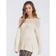 BLU PEPPER Crochet Back Womens Sweater