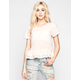 ALI & KRIS  Womens Ruffle Sweep Chiffon Top