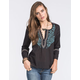 PATRONS OF PEACE Womens Woven Top