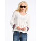 CHLOE K Tapestry Bell Sleeve Womens Top