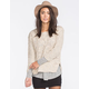 POOF EXCELLENCE Marled Cable Knit Sweater