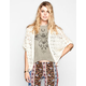 POOF EXCELLENCE Womens Crochet Dolman Cardigan