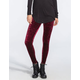 FULL TILT Crushed Velvet Womens Leggings