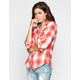 ANGIE Womens Flannel Shirt
