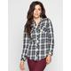 ANGIE Womens Boyfriend Flannel Shirt
