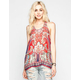 PATRONS OF PEACE Paisley Print Womens Tank