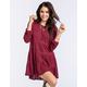 CHLOE K Crochet Tiered Womens Babydoll Dress
