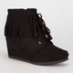 CITY CLASSIFIED Wig Womens Wedge Booties