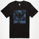 ADIDAS Smoked Aqua Stamp Mens T-Shirt