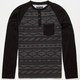VALOR Tribal Stripe Boys Raglan Henley
