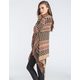 FULL TILT Boho Womens Fringe Wrap Sweater