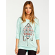 FULL TILT Ethnic Feather Womens Bar Back Tee