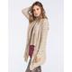 FULL TILT Womens Marled Stripe Cardigan