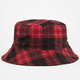 Plaid Reversible Womens Bucket Hat