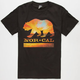 NOR CAL Sunset Bear Mens T-Shirt
