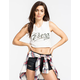 RVCA Ink Script Womens Crop Muscle Tank