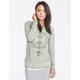 FULL TILT Distressed Marled Womens Sweatshirt