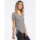 FULL TILT Boyfriend Stripe Womens V-Neck Tee