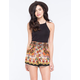 PATRONS OF PEACE Border Print Womens Shorts