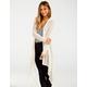 FULL TILT Tonal Stripe Womens Wrap Sweater