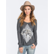 FULL TILT Elephant Womens Ribbed Dolman Tee