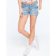 OTHERS FOLLOW Crochet Side Denim Shorts