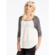FULL TILT Solid Womens Baseball Tee