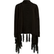 FULL TILT Solid Girls Fringe Wrap Sweater
