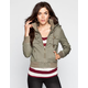 ASHLEY Womens Twill Hooded Bomber Jacket
