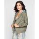 ASHLEY Ethnic Print Hood Womens Twill Jacket