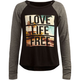 FULL TILT Love Life Free Girls Raglan Tee